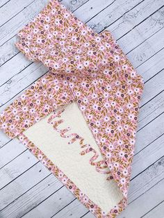SPRING SALE Handmade Personalized Baby Quilt Blanket Name