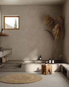 Home Interior Design, Interior Architecture, Interior And Exterior, Interior Decorating, Wabi Sabi, Bathroom Inspiration, Interior Inspiration, Casa Wabi, Spa Like Bathroom