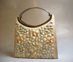 Absolutely Stunning Timmy Woods of Beverly Hills Sea Shell Handbag Purse and Piece of Luxurious Art. $299.00, via Etsy DearVintageSisters.