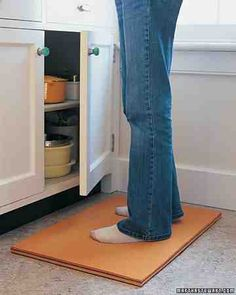 Martha Stewart: 15 Good Things For the Kitchen:  While your hands are hard at work in the kitchen, give your feet a break with this simple-to-make felt mat.