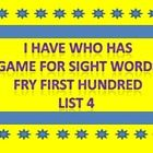 This is a great game to play with students and the focus is high frequency words.  For this game I have used the words from Fry list 4 from first 1...