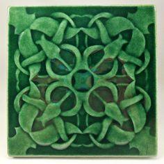 Wall tile, Ceramic tile, backsplash tile, fireplace tile, bathroom wall tile, art tile, wall hanging, home decor, ceramic art, handmade tile by CampbellTileworks on Etsy