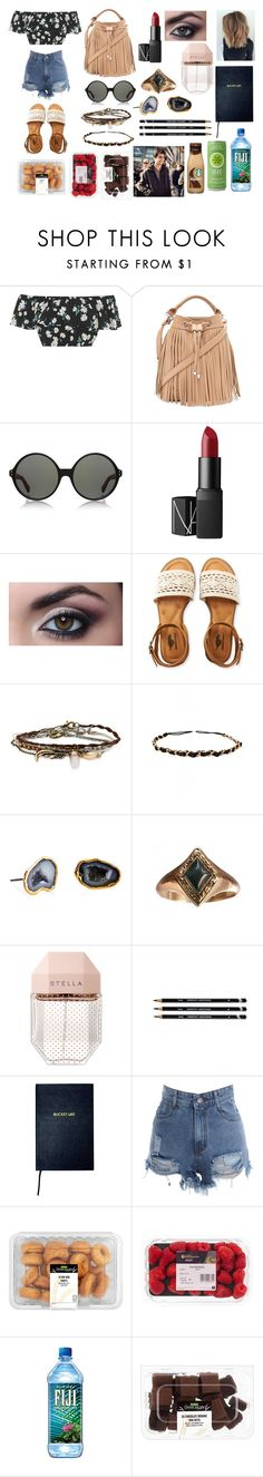"""""""Lunch"""" by navvy-bluue ❤ liked on Polyvore featuring Topshop, Forever 21, Linda Farrow Luxe, NARS Cosmetics, Aéropostale, Humble Chic, Janna Conner, STELLA McCARTNEY and Sloane Stationery"""