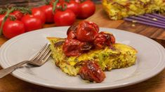 Bacon, Potato and Leek Frittata with Burst Tomato Sauce Recipe