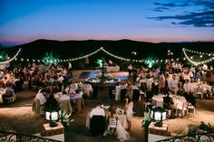 Hummingbird Nest Ranch Wedding Haley + Brian - I like the colored lights in this picture
