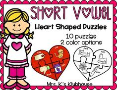 Are you looking for a fun way for your students to practice CVC words? Included in this activity, there are a total of ten color puzzles. There are two puzzles for each short vowel. Simply copy, laminate, and cut out each individual puzzle piece.