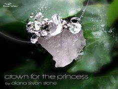Crown for the Princess Rose quartz pendant by DianaSilvanStone
