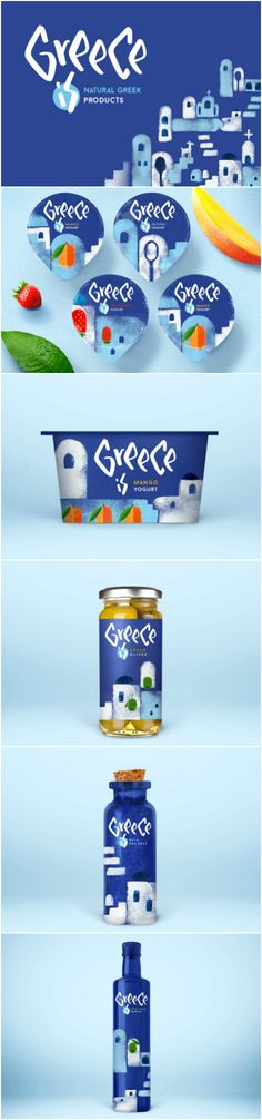 Stunning Branding and Packaging Design for Greece Product Range Design Agency / Designer:Getbrand brand thinking, Tata Krylova Project Name:This is - Greece is Location: Russia Category: #Dairy #Food #Oil #Yogurt  World Brand & Packaging Design Society