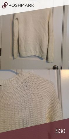 Warm sweater Off white almost cream. Worn once. I wore it with olive pants and black bootie wedges. Really pretty and warm Sweaters