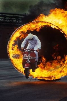 Vespa… jump in the fire ;)