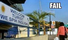 Tourism Sign FAIL