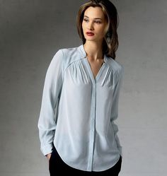 Buy Vogue Rebecca Taylor Women's Top/Vest Sewing Pattern, 1387 from our Sewing Patterns range at John Lewis & Partners. Vogue Patterns, Sewing Patterns Free, Clothing Patterns, Vintage Patterns, Vintage Sewing, Sewing Blouses, Sewing Jeans, Shirt Bluse, Make Your Own Clothes