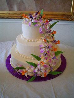 Orange Cake Purple Wedding Cakes Sugar Jun Red Beautifulllllllllll!!!