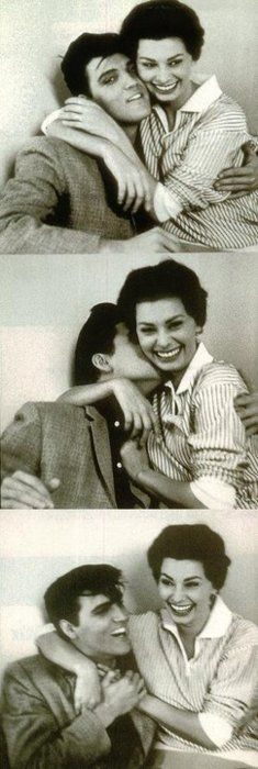 Elvis Presley and Sophia Loren, Paramount Studios, on the set of King Creole, 1958.