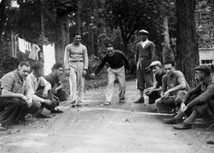 Old school players. // Looking forward to receiving your extreme petanque…