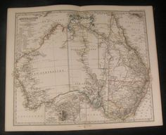 Australia-Sydney-Port-Jackson-Perth-1866-scarce-issue-of-Stieler-old-vintage-map