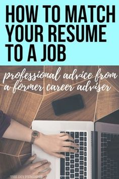 These tips from a former career adviser will teach you how to tailor a resume to match a job. Target your resume to an employer using keywords, language, and formatting to highlight your skills and experiences in a way that speaks directly to them. Resume Help, Job Resume, Resume Tips, Cv Tips, Resume Ideas, How To Resume, Resume Skills, Career Advisor, Job Interview Tips