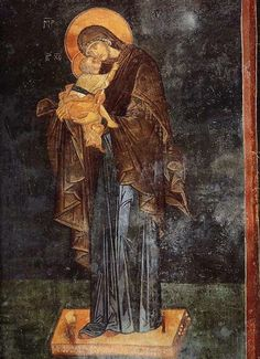 Mary and Child fresco, Chora Church, Istanbul. Byzantine Icons, Byzantine Art, Religious Images, Religious Art, Medieval Art, Renaissance Art, Madonna, Christian Religions, Biblical Art