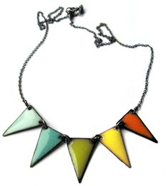 enamel flags necklace