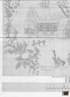 Xmas Cross Stitch, Cross Stitch Kitchen, Cross Stitch Borders, Cross Stitch Charts, Cross Stitching, Cross Stitch Embroidery, Cross Stitch Patterns, Christmas Scenes, Christmas Cross