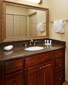 bathroom vanaties | Tropical Brown Granite Bathroom Vanity