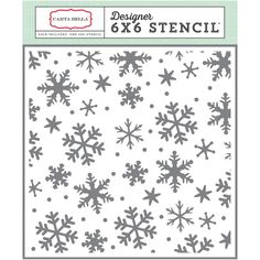 Have A Merry Christmas Snowflakes #3 6x6 Stencil Carta Bella Winter Mixed Media Scrapbook Card Making Art Journaling Pocket Scrapbooking by InkyHotMess on Etsy