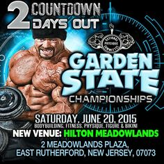 ☀ ☀️️2 DAYS LEFT! ☀☀️️  Until the #GardenState Championships! Gym Heroes will be there, will you?! #ilovegymheroes #bodybuilding #bikini #figure #physique #ifbbpro #npc #girlswithmuscle #girlsthatlift #diet #gymlife #gymheroes #train #trainharderthanyou #weightloss #whatsyourexcuse #meadowlands #hilton #hotel #champion #fitfam #fitness #hiit #branchwarren #texas #nationalqualifier #nj #powerlifting #posing