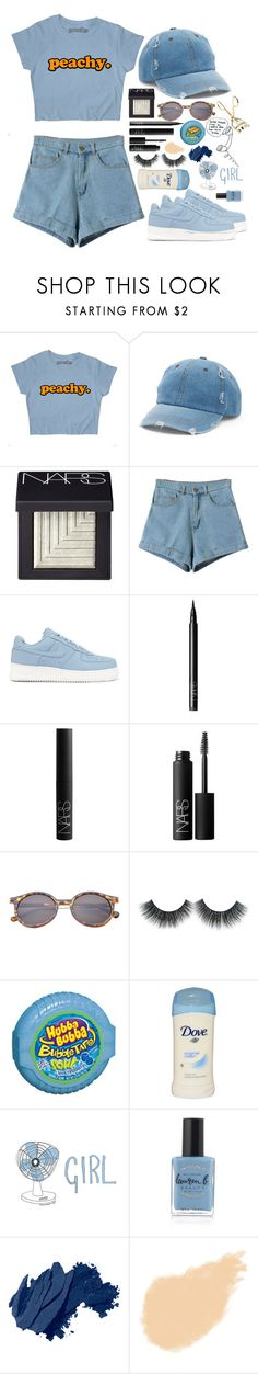 """""""everything is blue"""" by lacypond ❤ liked on Polyvore featuring Mudd, NARS Cosmetics, NIKE, Lauren B. Beauty and Bobbi Brown Cosmetics"""