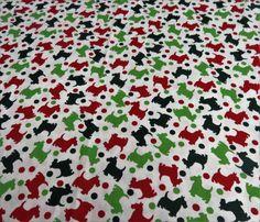 Scottish Dogs Scottie Scotty Christmas Xmas Fabric - 1 yard by BaffinBags on Etsy https://www.etsy.com/uk/listing/465557896/scottish-dogs-scottie-scotty-christmas