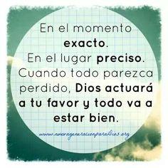 Dios actuará