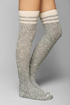Marled Varsity Stripe Over-The-Knee Sock #urbanoutfitters