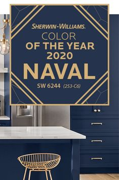 Our 2020 Color of the Year, Naval SW is a rich navy that creates a calm and grounding environment infused with quiet confidence. And while you may think Navy's been done before – it's never been… Navy Paint Colors, Paint Colors For Home, Wall Colors, House Colors, Neutral Paint, Front Door Colors, Gray Paint, House Paint Exterior, Exterior Paint Colors