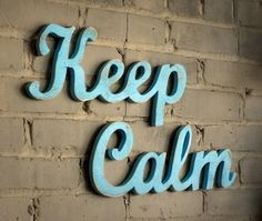 keep calm wood sign handmade from recycled wood (by Oh Dier Living on Etsy)