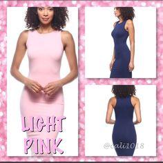 Lt Pink Perfect Midi Tank Dress 5 Across Board