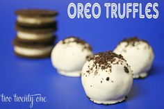 Oreo truffles-- delicious and only 3 ingredients!