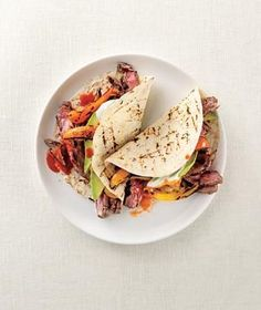 Grilled Beef and Pepper Fajitas | No matter how you slice it, this lean, juicy favorite makes a delicious weeknight meal.