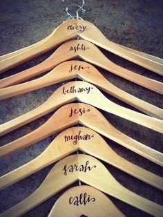 Customized Bridesmaids/Groomsmen Bridal Wedding Hangers, Engraved ...