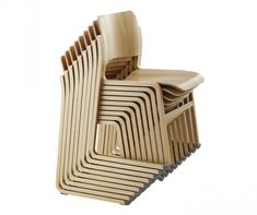 The one of the most important century designs - chair by David Rowland. This wooden chair is an line extension of the chair Outdoor Chairs, Outdoor Furniture, Outdoor Decor, Stacking Chairs, Chair Design, Floor Chair, Industrial Design, Upholstery, Wood