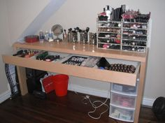 I totally need a makeup storage like this.