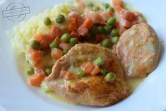 Filety z kurczaka z marchewką i groszkiem – Smaki na talerzu Potato Salad, Potatoes, Chicken, Meat, Ethnic Recipes, Food, Eten, Potato, Meals