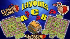 CLASH OF CLANS - LAYOUTS A ou B ou C -  ESCOLHA É SUA !!