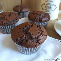 MUFFIN RICETTA AMERICANA AL CACAO dolce perfetto Biscotti, Brownies, Muffins, Deserts, Presto, Cannoli, Cacao, Dolce, Cooking