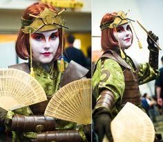 2011 Wondercon – ATLA Kioshi Warriors Cosplay Avatar Costumes, Avatar Cosplay, Cosplay Diy, Best Cosplay, Cosplay Ideas, Avatar Kyoshi, Avatar The Last Airbender, Bender Costume, Halloween Outfits