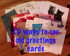Pass the caffeine: What to do with old greetings cards?