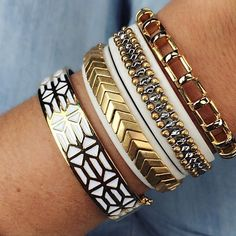 Stacking on the gold #armparty #stelladotstyle #jotd #accessories : @jenagreen920