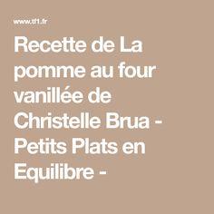 Recette de La pomme au four vanillée de Christelle Brua - Petits Plats en Equilibre -