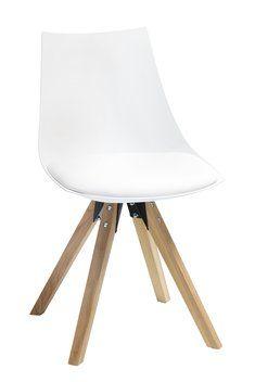 Ruokapöydän tuoli ORE valk. keinon/tammi | JYSK