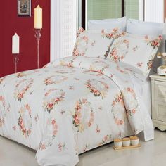 New Liza Multi Piece 100 Egyptian Cotton Duvet Set Floral Queen King Cal King King Size Comforter Sets, Queen Size Duvet Covers, Comforter Cover, Queen Duvet, Duvet Sets, Duvet Cover Sets, King Duvet, Modern Duvet Covers, 100 Cotton Duvet Covers