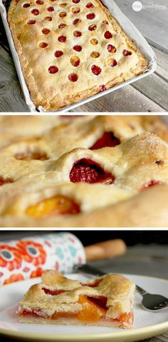 "If you're intimidated by pie-making (like I am,) you will love this rustic ""slab pie"" recipe!"