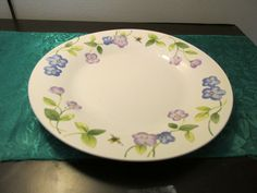 Perennials By Pfaltzgraff Violets and Bees Dinner Plate | eBay